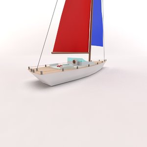 3dsmax cartoon toon yacht