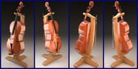 Violoncello with bow and stand