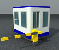 3d model car parking booth