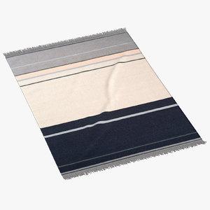 3d model liniedesign metallum rug