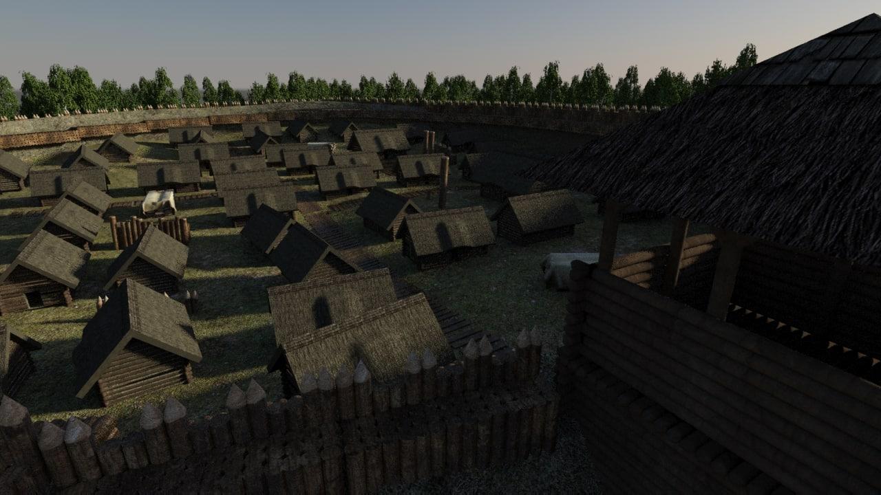 ancient house wood 3d model
