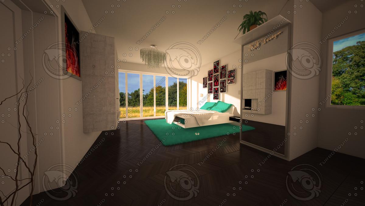 bedroom 3d c4d