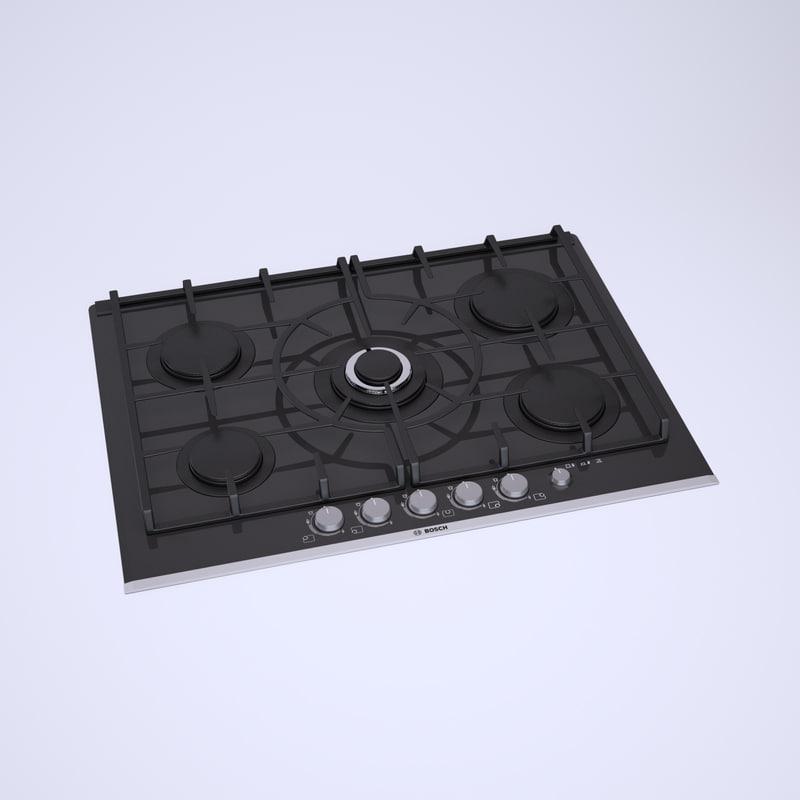 3d model bosch ppq726m90e cooktop