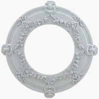 rosette element cast 3d model
