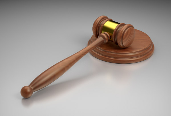 3d judge s auctioneer gavel