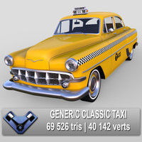 generic classic sedan 3d max