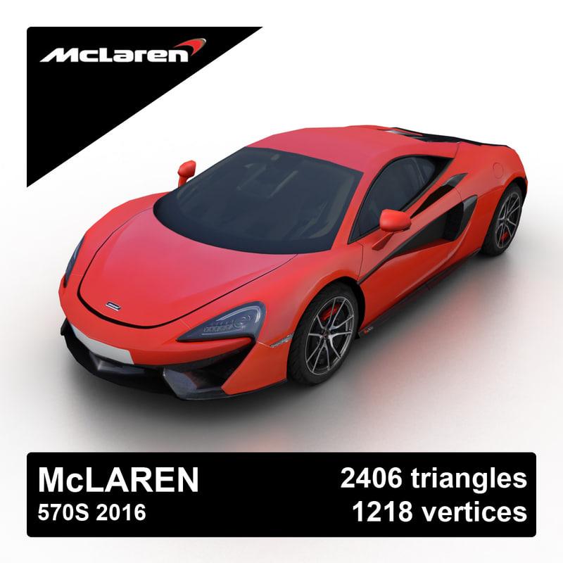2016 mclaren 570s 3d model