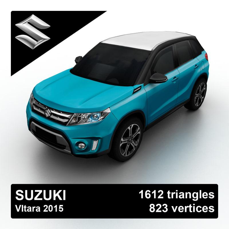 suzuki vitara 2015 3d model