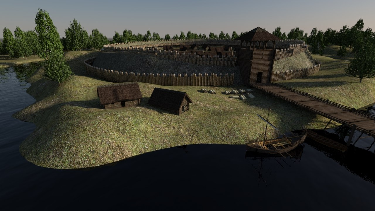 old slavic village wall max