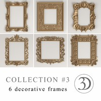 3 6 decorative frames 3d model