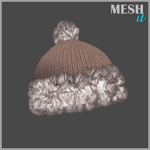 hat winter obj free