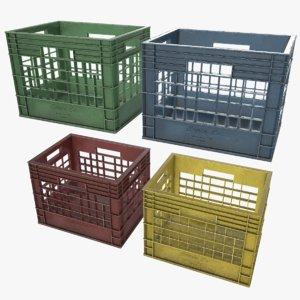 plastic crate 3d max