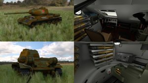 3d soviet tank interior hdri