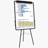 3d model flip chart