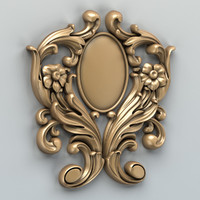 3d model of carved decor