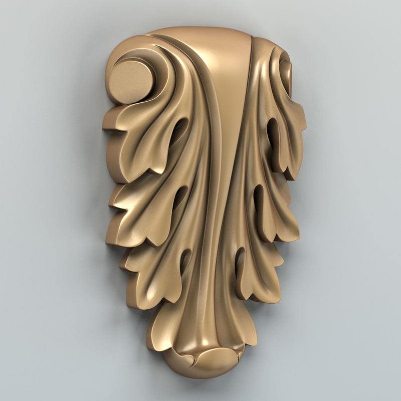 carved decor 3d model