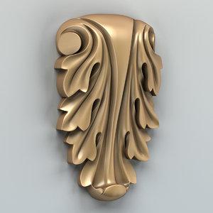 carved decor 3d model