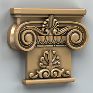 carved column capital 3d model