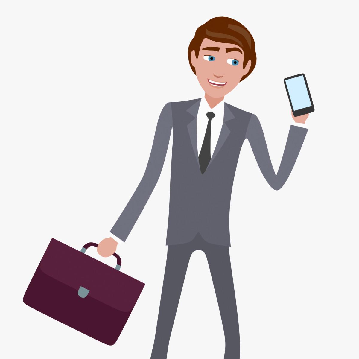 Max Rigged Cartoon 2d Business Man