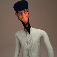 3d peddler man