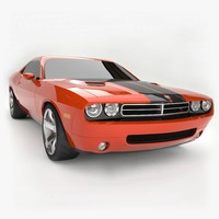 3d model 2006 dodge usa challenger