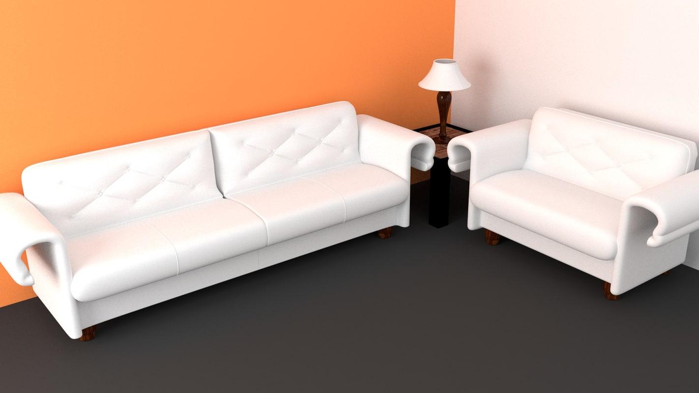 maya sofa white modern