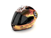 Motorcycle Helmet HIGHLY DETAILED