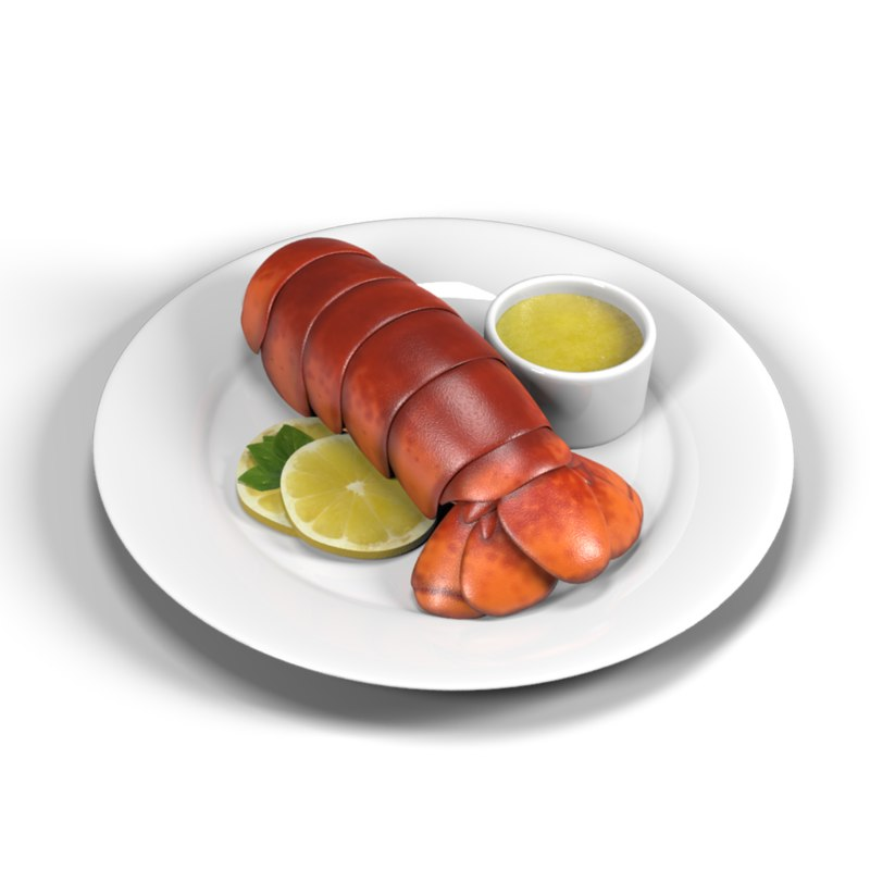 lobster dish obj