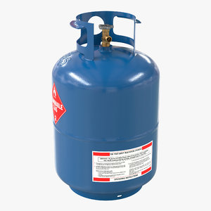 gas cylinder 2 3d max