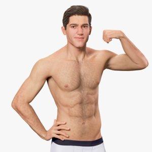 3d rigged male basic model