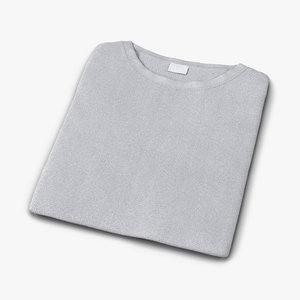 3d folded t-shirt realistic model