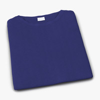 Folded TShirt Blue