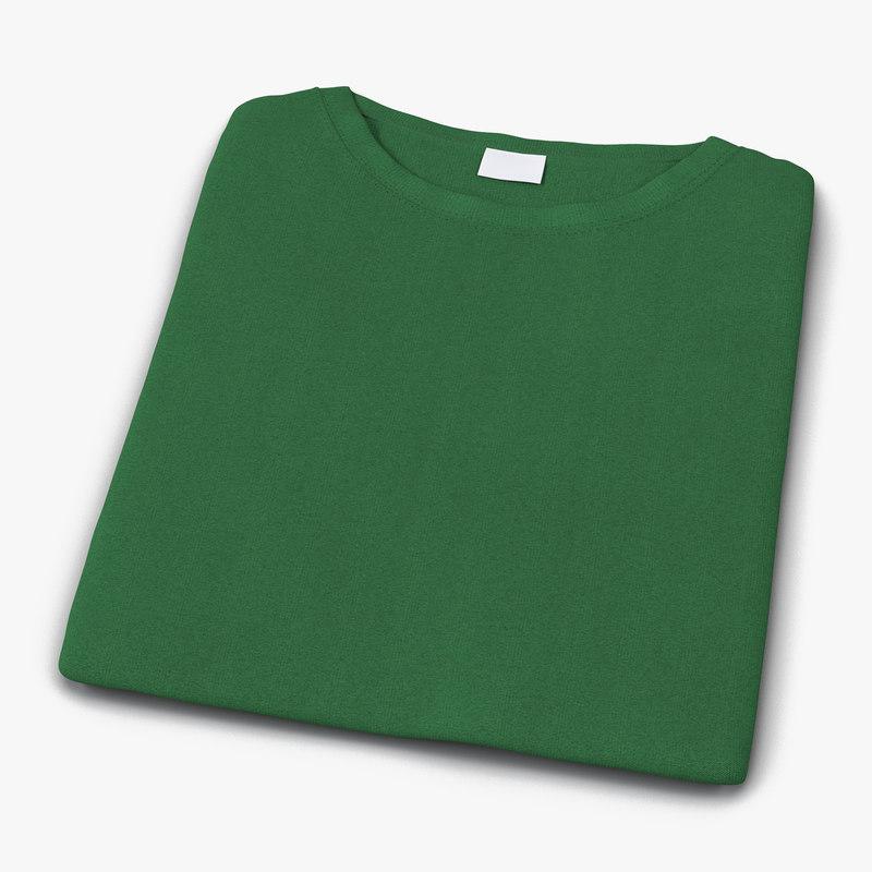 3d folded green model