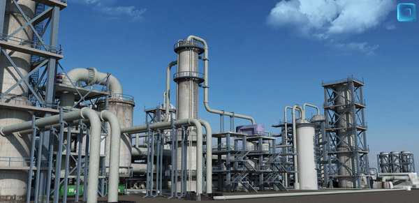 mega refinery 3d max