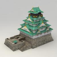 osaka castle 3d model