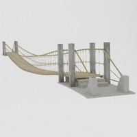 3d rope bridge