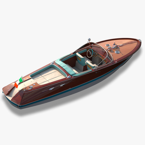 riva aquarama motorboat 3d model