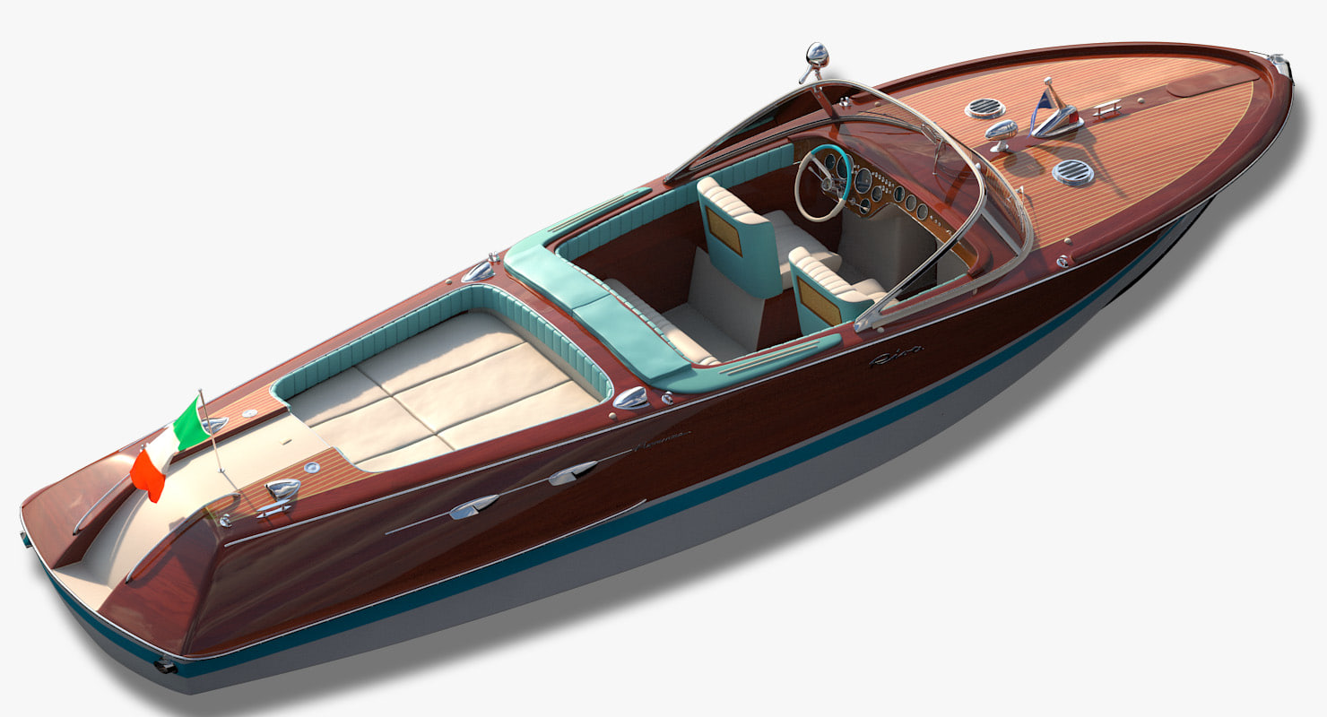 riva aquarama motorboat 3d model