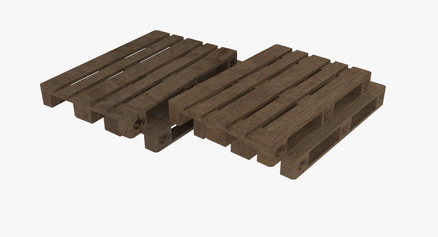 3d euro pallets model