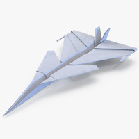 paper plane 4 3d model
