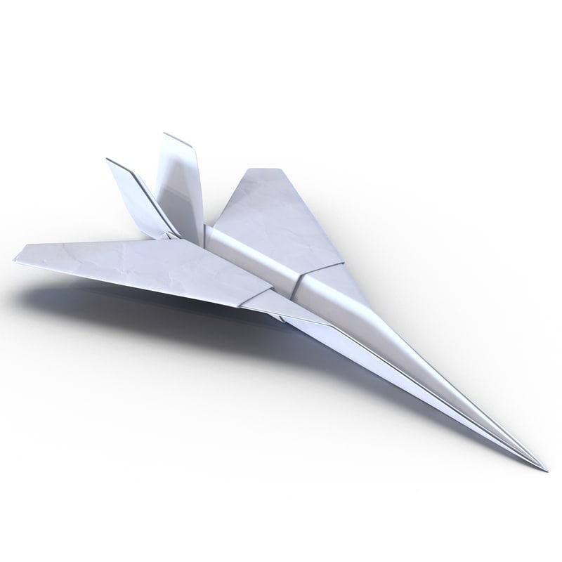 paper plane 5 3d model