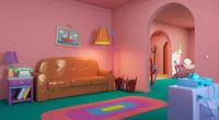 Simpsons livingroom