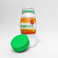bottle orange juice 3d model