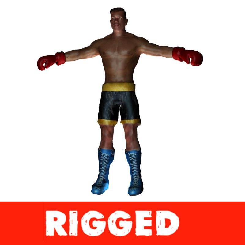 3d boxer model