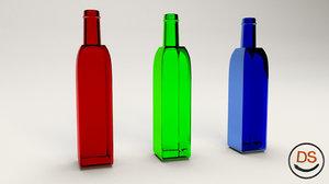 free glass bottle 3d model