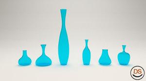 free glass vase 3d model