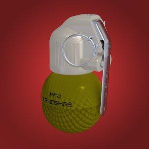 hand grenade rgo 3d fbx