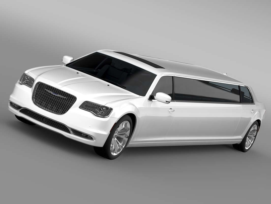 3d model chrysler 300c platinum limousine