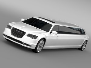 3d model chrysler 300c platinum limousine