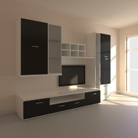3ds max wall tv furniture